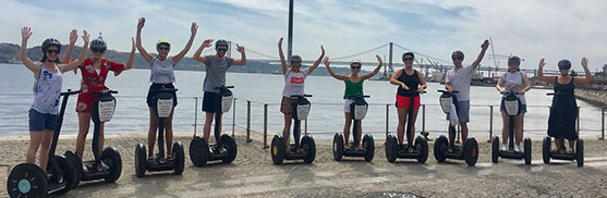 lisbon segway tours bachelorette hen party girls3