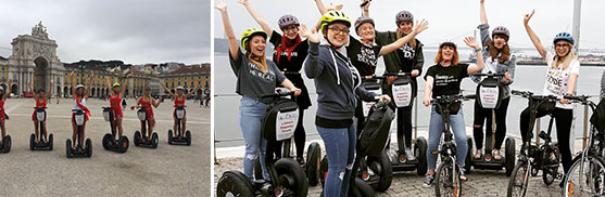lisbon segway tours bachelorette hen party girls6